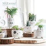 Note. Miz 1 Piece Vase Cute Animal Figure Ceramic Vase for Plants Home Garden Decoration Accessories Small Pot Gift for Friends