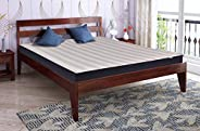 Springtek Dreamer Pure Sheesham (King Size) Solid Wooden Platform Bed, Mahogany Color - 78x72 Inches