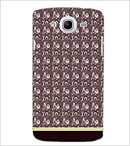 PrintDhaba Owl Pattern D-1707 Back Case Cover for SAMSUNG GALAXY MEGA 5.8 (Multi-Coloured)