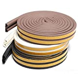 Sealplus 25 Meters D type Large Gap(5-7 mm) Self Adhesive Weather Strip Seal For Home Door and Windows Fittings