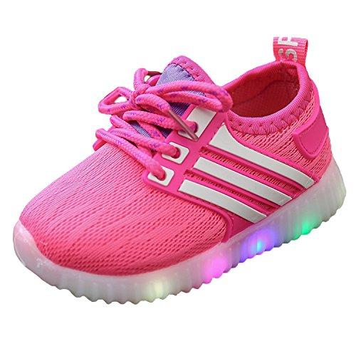 Calzature per Bambini Scarpe LED Bambini Bambina Unisex Basso scarpe leggere con luci lampeggianti multicolor 0391 Rosso EU 23