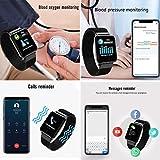 AURSEN-Fitness-Armband-mit-Pulsmesser-Wasserdicht-IP67-Fitness-Tracker-mit-Schrittzhler-Schlafmonitor-Nachricht-Drcken-Intelligente-Vibrationserinnerung-Anrufe-und-Nachricht-fr-Android-iOS-Handy