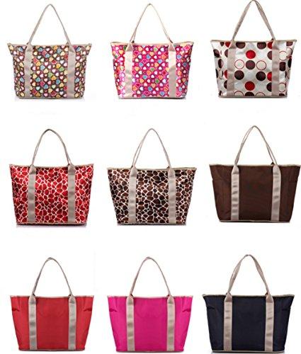 , Fashion Mumienschlafsack Kapazität Multifunktions Schwangere Frauen Einkaufstasche Handtasche Baby Windel Windel Wickeltasche Tote Taschen Red with point