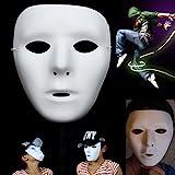 Ungfu Mall 1 PC Halloween Ghost danza hip hop performance Maschere Jabbawockeez mascherina mascherine vestito dal partito (Bianco)