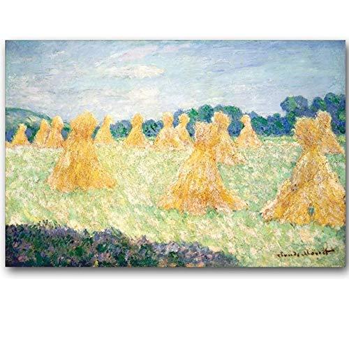 WSWWYClaudio Monet Original Landschaft Ölgemälde Rahmenlose Leinwand Gemälde Meisterwerk (Druck) A 70x100cm No Frame