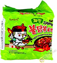 Samyang Jjajang Hot Chicken Ramen, 140 gm x 5