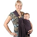 Écharpe de portage avec anneau d'ajustement - Porte-bébé ventral ou dorsal de marque Neotech Care - Réglable - Coton - Couleur grise