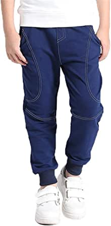 Kinder Jungen Lang Haremshose Baumwollhose Tasche Kleidung Komfort Outwearlinie