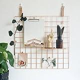 ZONYEO drahtgitterwand mesh foto auslage für memo vorlage photographie rose gold
