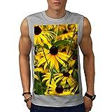 wellcoda Garten Blume Wild Natur Männer 5XL Ärmelloses T-Shirt