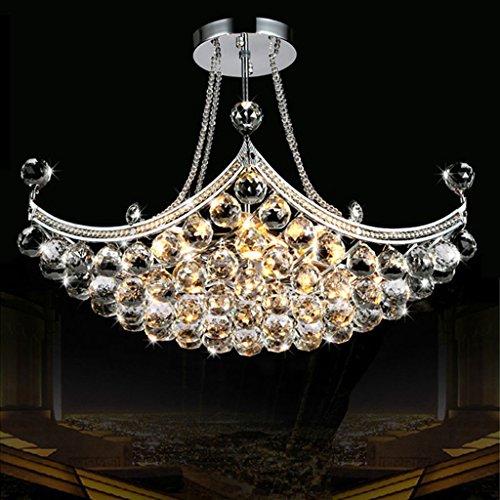 #Kronleuchter Kristall-Kronleuchter, Wohnzimmer Schlafzimmer Restaurant Lampen Und Laternen Modern Einfache Beleuchtung (größe : 6 lights/40 * 60cm) -