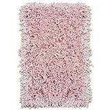Abaseen Hochflorteppich, weich, einfarbig, fusselfrei, dichter Flor, in 4 Größen erhältlich, Babyrosa, 80 x 150 cm