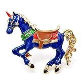 CCJIAC Spille a cavallo smaltate per donna Moda Pin animale Creativo Vivido Pony Corsage Jeans Accessori Regalo