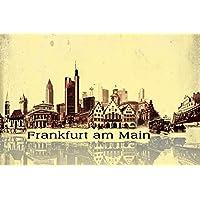 Fráncfort - Collage Urbano, Estilo Vintage Fotomural Autoadhesivo (180 x 120cm)