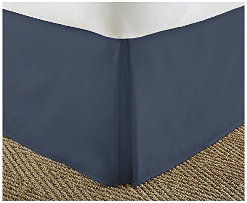 ienjoy Home Home Collection Premium Bundfaltenhose Staub Rüsche Bett Rock, Navy, Twin XL
