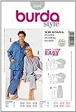 Burda B2691 - Cartamodello per realizzare pigiama per uomo/donna, taglie varie, 19 x 13 cm