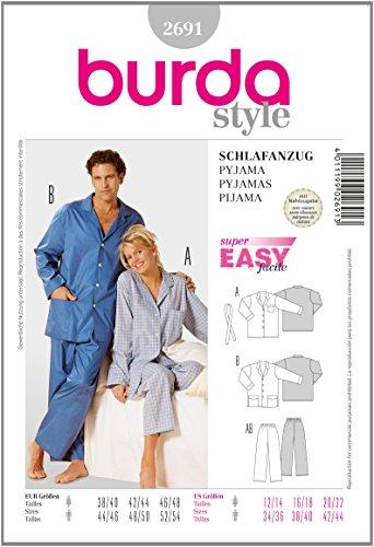 Burda B2691 Patron de Couture Pyjama 19 x 13 cm