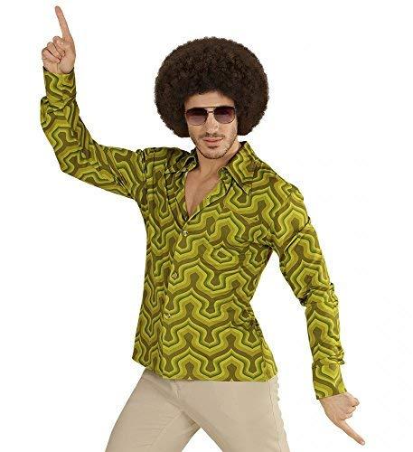 d mit Tapetenmuster Grün Disco Herren Kostüm Siebziger Schlager, Größe:XXL ()