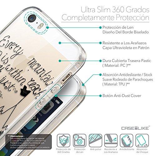 CASEiLIKE Citation 2429 Housse Étui UltraSlim Bumper et Back for Apple iPhone SE +Protecteur d'écran+Stylets rétractables (couleur aléatoire) 2403