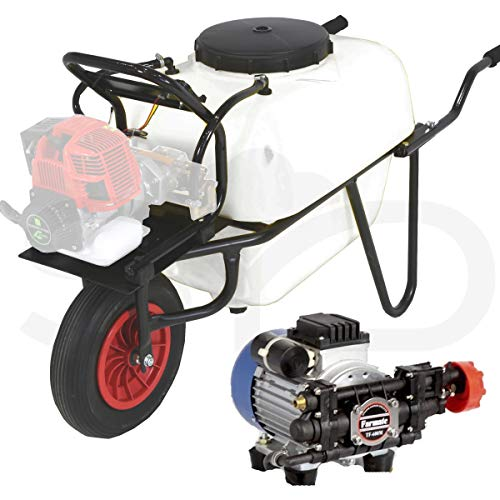 Carretilla sulfatadora 100L. Motor eléctrico.
