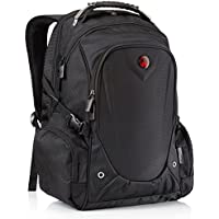 Laptop Backpack, Backpack Mens, Rucksack Mens, by Camden Gear. The Anti Theft School Bags Fits 13 14 15 and 17 and 17.3 Laptops. Great Bag for Men and Women. Water Resistant. Black