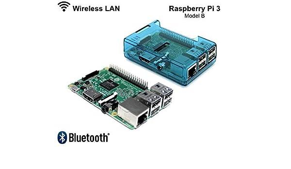 RASPBERRY Pi 3-1.2GHz Quad Core 64Bit 1GB RAM 2016 Model with Blue case