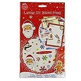 Confezione da 2 per Bambini Lettera a Babbo Natale Lettera Modello Adesivi Matite Buste