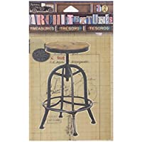 Canvas Corp 7 Gypsies Architextures Treasures Adhesive Embellishments-Drafting Stool 4""