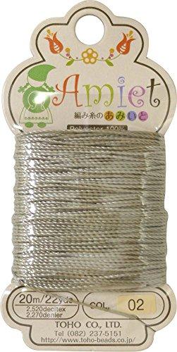 amiet–tōhō amiet perles filetage 20m/22yds gris