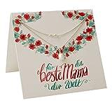 Geschenke für Mama zum Geburtstag ❤️ Geschenk-Ideen für die beste Mama Geburtstags-Geschenk Gruß-Karte Hals-Kette für Mütter Silber 925 Mutter Tochter Schmuck Danke Mutti FF89SS925SWPE45-7