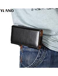 Buyworld Yiang Brand Pu Waist Packs Casual Men Phone Pouch Bags Hook Loop Belt Clip Case Waist Bag Black Mobile...