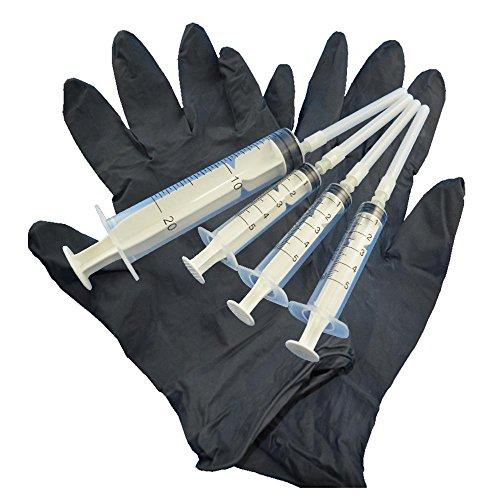 Refill Spritzen Set Nachfüllspritzen 4 Spritzen mit Kanülen und 1 Paar Latexhandschuhe -