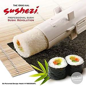 Sushezi Selber perfektes Sushi Machen, Kunststoff (PP) : Topilène BPA Free, weiß 30 x 6 x 6 cm