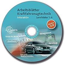 Arbeitsblätter Kraftfahrzeugtechnik interaktiv Lernfelder 1-4 - Einzellizenz