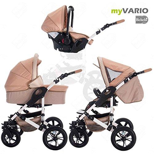 bebebi | Modello myvario | 3in 1Passeggino combinato | duro pneumatici in gomma