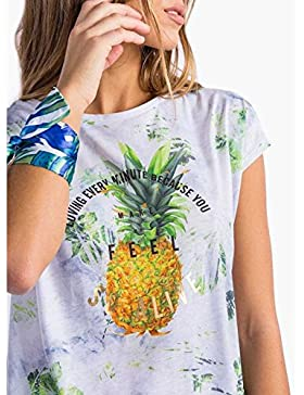 Tiffosi CICI Camiseta Mujer Manga Corta Print Delantero