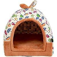 Blue Bridge Casa de Perro, Lavable Perrera Paraguas Modelado Gato Nido Perros pequeños Colchón para