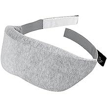 Plemo Sleep Mask, Ultra-Soft Velvet Eye Cover, Thick Light Blocking Memory Foam, Adjustable Strap and Magic Hook and loop Design Breathe-Easy for Bedtime & Travel [Improved Version]