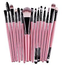 Feng profesional 15Pcs/set Sombra de Ojos Fundación & # xFF0C; cepillo de cejas Lip & # xFF0C; Herramienta de pinceles de maquillaje