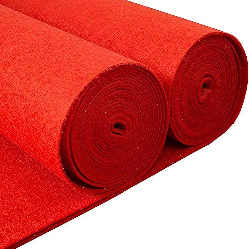 JXS-Wedding Hochzeits-roter Teppich, Hochzeits-Gang-Läufer einmaliger bequemer Gebrauch groß für Hochzeiten,1.5×20M - Läufer Rot Hochzeit Gang