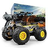 GizmoVine Ferngesteuerte Autos 2,4 Ghz 1/18 Monster Truck Allradantrieb All Terrain RC Auto für Kinder (Gelb 1)