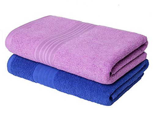 Homely 420 GSM 2-Piece Cotton Bath Towel Set - Blue...