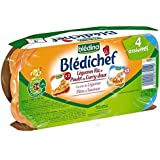 Bledina blédichef legumes riz et poulet curry/cocotte lesg pates saumon 4x260 - ( Prix Unitaire ) - Envoi Rapide...