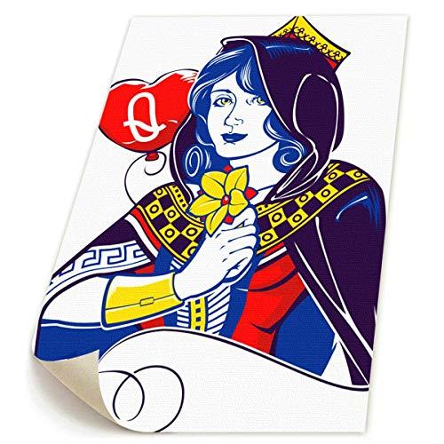 SDGYGSNi Queen of Hearts Leinwanddrucke, abstrakte Pop-Art, lustige -