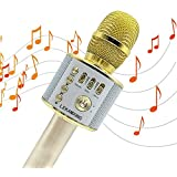 Microphone, Wireless Microphone Karaoke/Mini Bluetooth Handheld Karaoke Stereo Mini Home KTV Karaoke Player For Music Playing for Apple iPhone/Android Smartphone or PC