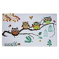Welcome Doormat, Entrance Mat Floor Mat Rug for Indoor Outdoor Front Door With Non-Slip Rubber Backing, Printing Door Mat With Owl Pattern, 17
