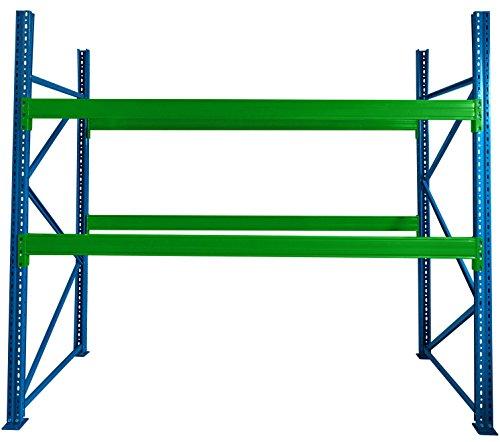 Schwerlastregal Palettenregal für Industrie und Lager 250 cm Hoch x 281 cm Breit x 110 cm Tief, Platz für 9 Paletten