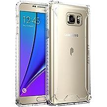 Funda Galaxy Note 5 - Poetic [Affinity Series]-[Agarre Parachoques TPU] [Protección Esquina] Funda Protectora Hibrida para Samsung Galaxy Note 5 (2015) Claro (3 años Garantía del Fabricante Poetic)