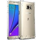 Samsung Galaxy Note 5 Schutzhülle Case Bumper - Poetic [Affinity-Serie] Samsung Galaxy Note 5 Case Schutzhülle - [Robuster Bumper aus TPU] [Eckenschutz] Hybride Schutzhülle Case Bumper für Samsung Galaxy Note 5 (2015) Klar/Klar (3 Jahre Herstellergewährleistung von Poetic)