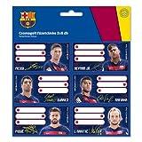 FC Barcelona Etiketten Messi Stickers Aufkleber 18 Stück